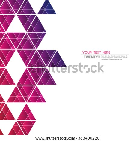 Overlapping Geometric Triangles Modern Background - stock vector
