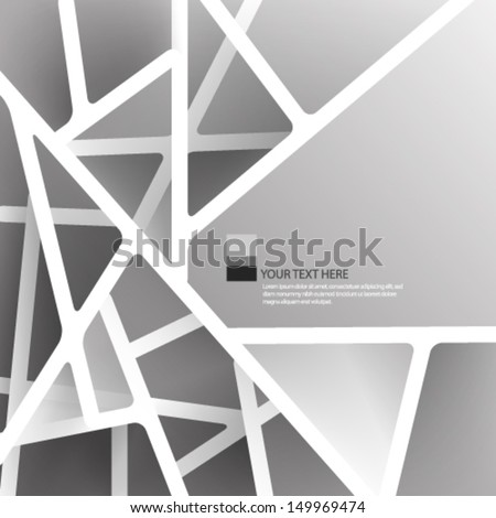 Overlapping Lines Background - stock vector