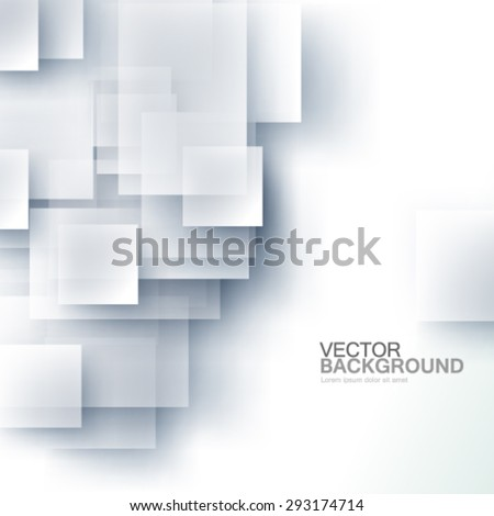 Overlapping Squares Design Glass Effect Background - stock vector