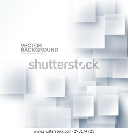Overlapping Squares Design Glass Effect Background