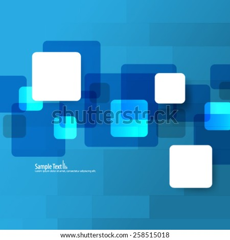 Overlapping Squares Digital Background - stock vector