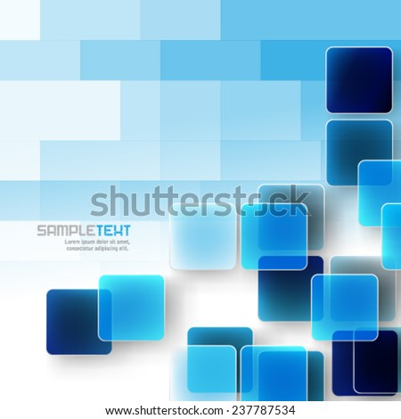 Overlapping Squares with Pixelated Effect Background