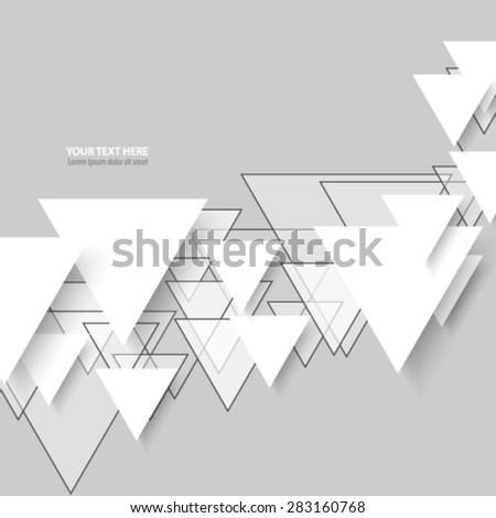 Overlapping Triangle Pattern Clean Background - stock vector