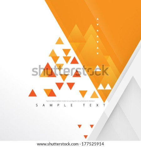 Overlapping Triangles Background - stock vector