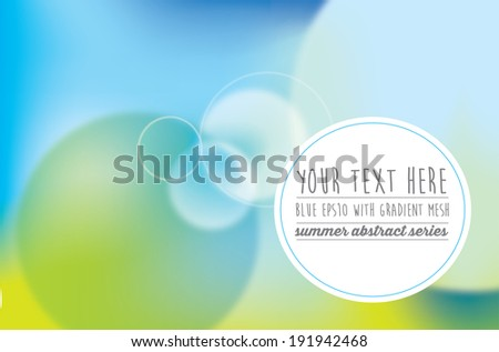 overlays to represent sun shine and blue skies in summer - stock vector