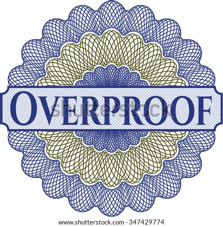 Overproof abstract linear rosette - stock vector