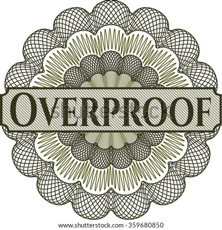 Overproof rosette - stock vector
