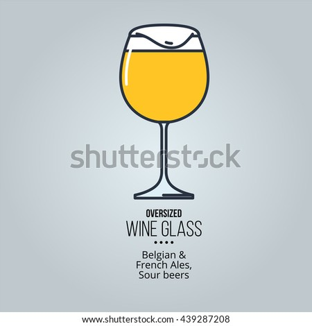 oversized wine glass icon