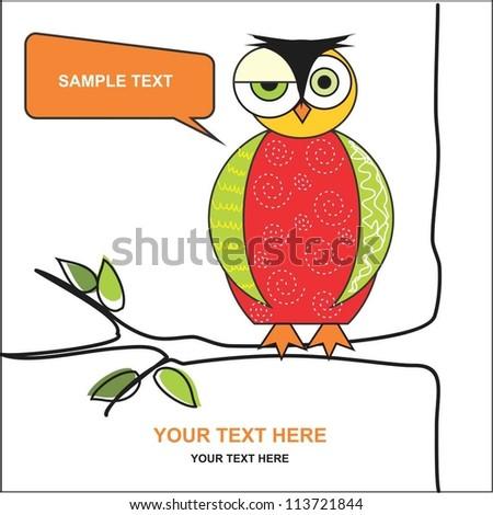 Owl - stock vector