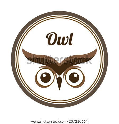 owl design over white background vector illustration - stock vector