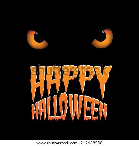 Owl eyes happy Halloween design Eps10 vector - stock vector