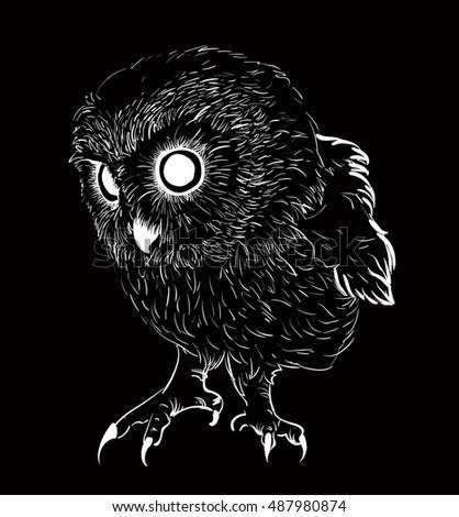 owl silhouette stock images royaltyfree images amp vectors