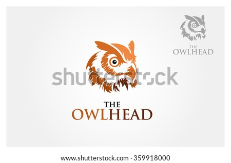 Owl head for mascot or logo design. Vector illustration - stock vector