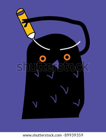 Owl illustration - stock vector