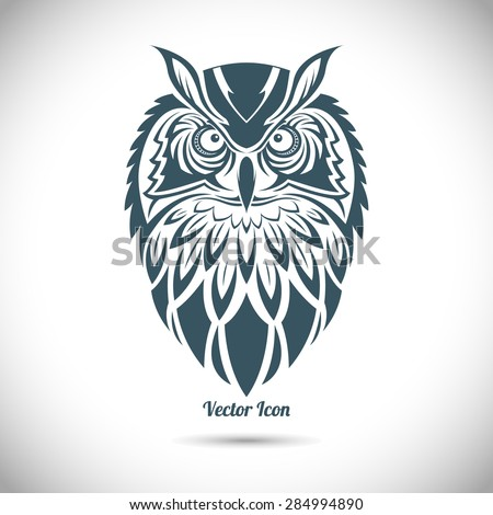 Owl in the ornamental style. Tribal. - stock vector
