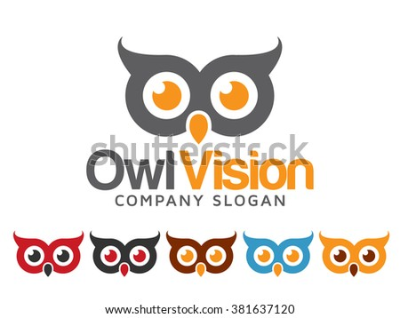 Owl Logo - stock vector