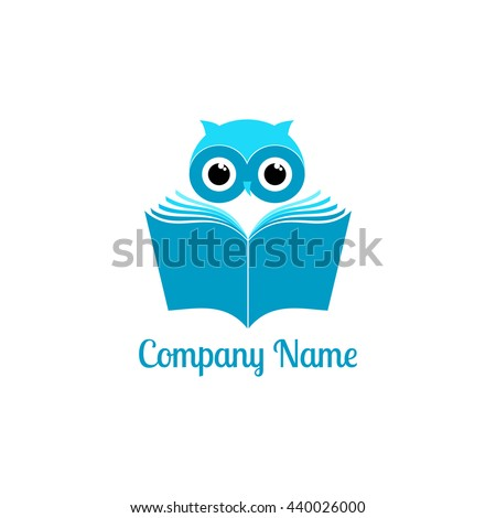Owl reading a book. Education concept vector. Sign, logo,icon. Vector illustration. - stock vector