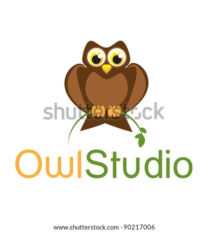 Owl Symbol - stock vector