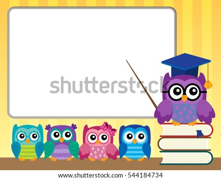 Owl teacher and owlets theme image 9 - eps10 vector illustration.