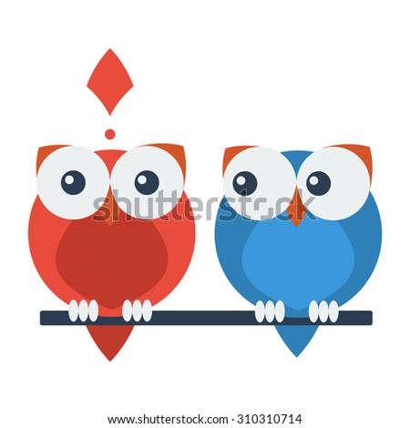 Owl vector illustration - stock vector