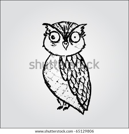 owlet. vector. - stock vector