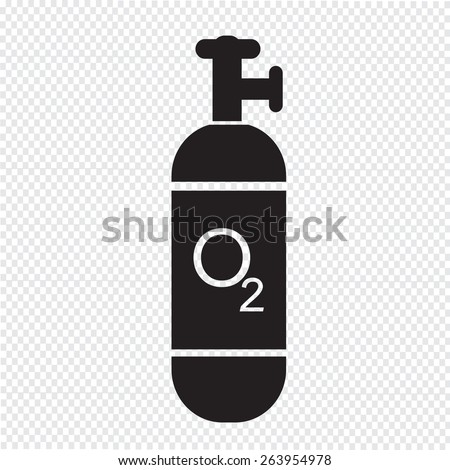 Oxygen Cylinder icon - stock vector