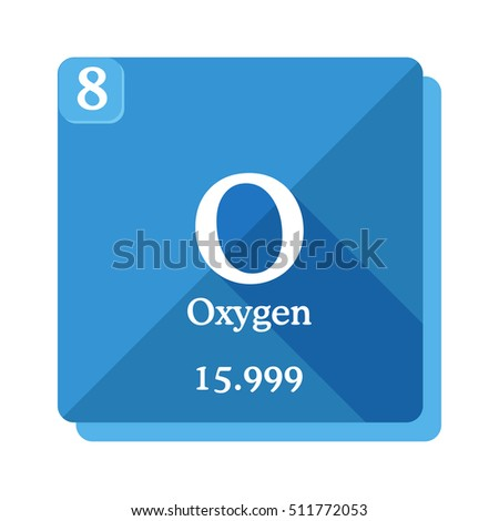 Oxygen O Element Periodic Table Oxygen Stock Photo Photo Vector