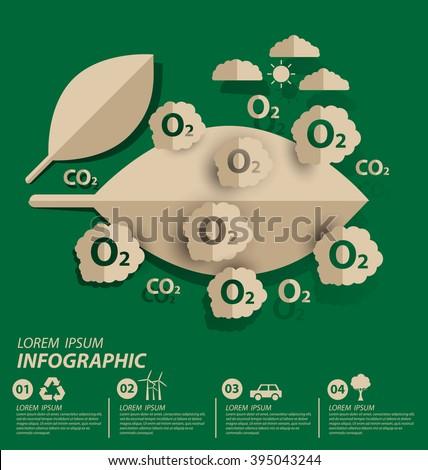 Oxygen. save world vector illustration. - stock vector