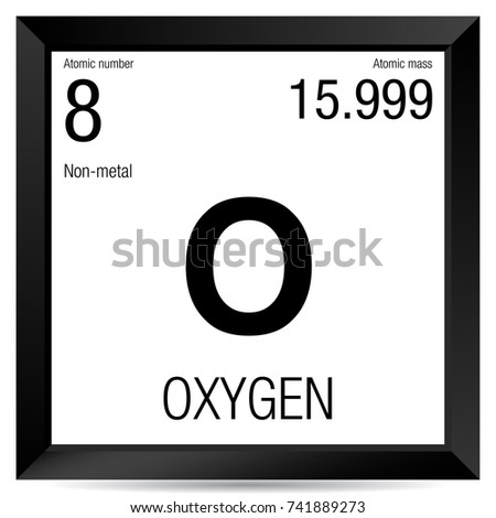 Oxygen symbol element number 8 periodic stock vector 2018 oxygen symbol element number 8 of the periodic table of the elements chemistry urtaz Images