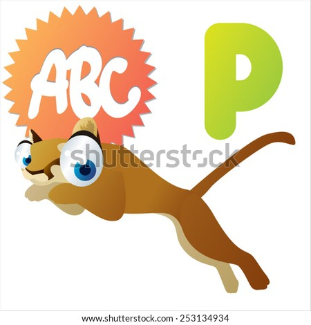 P is for Puma - stock vector