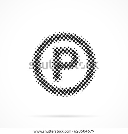 P Sound Recording Copyright Symbol Halftone Stock Vector 628504679