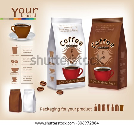Pack of coffee vector  - stock vector