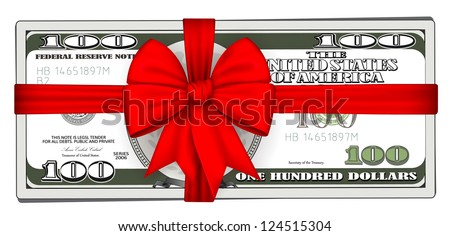 Pack of dollars tied with ribbon.vector - stock vector