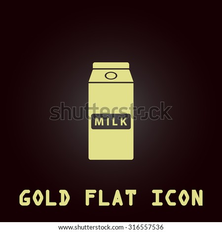 Pack Milk Gold Flat Vector Icon Stock Vector 316557536 Shutterstock
