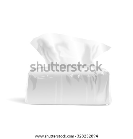 pack of open tissue paper isolated on white background - stock vector