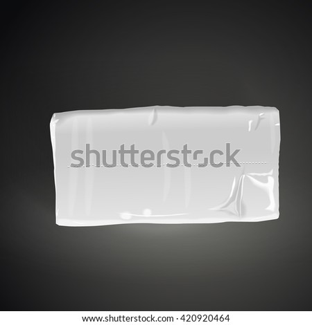 pack of tissue paper isolated on black background. 3D illustration. - stock vector