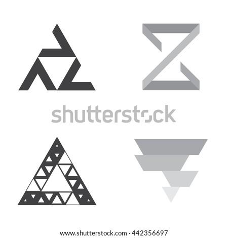triangle logo stock images royaltyfree images amp vectors