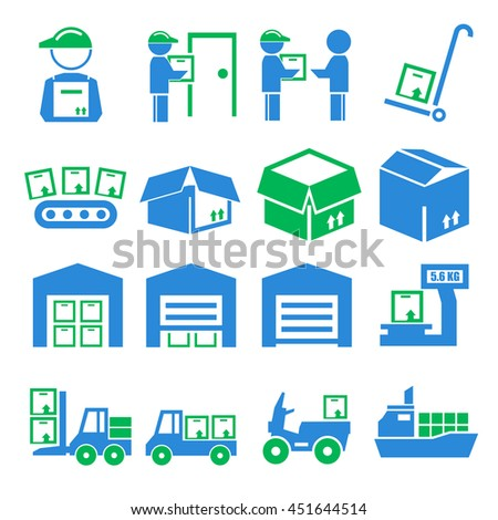 pack, package, packaging icon set