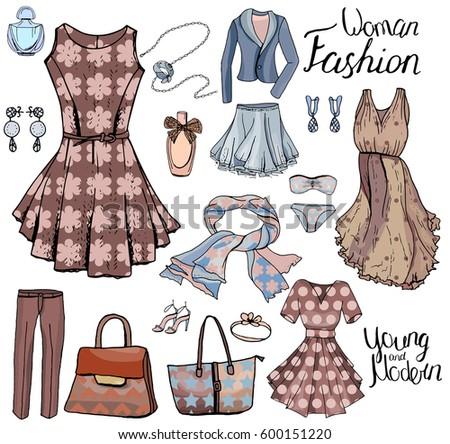 Fashion Illustration Elegant Style Stock Illustration