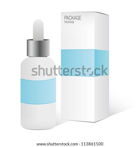 Package box design, vector illustration - stock vector