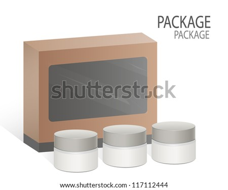 Package box design 10, vector illustration