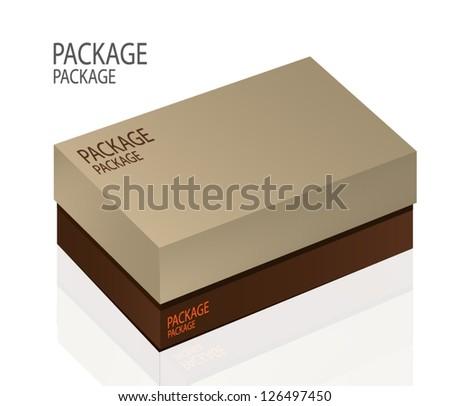 Package box design 2, vector illustration - stock vector
