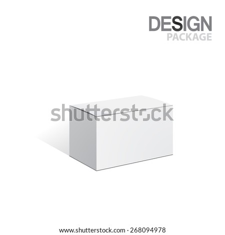 Package Box. For Software&Hardware, vector Illustration - stock vector