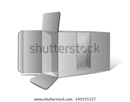 Package Box Opened vector