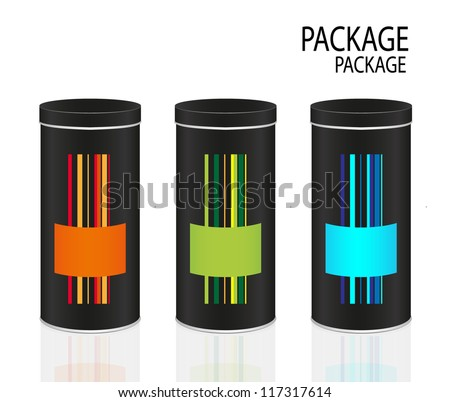 Package color  canned design, vector illustration - stock vector