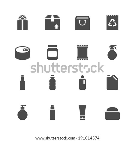 Package icons - stock vector