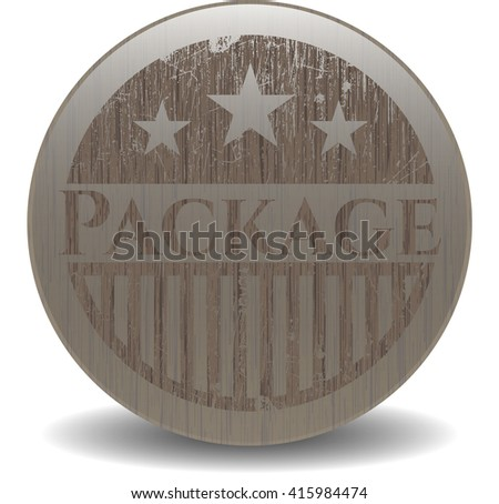 Package retro wooden emblem