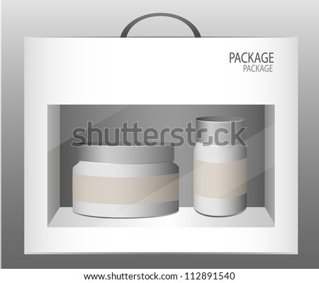 Package white box design, vector illustration