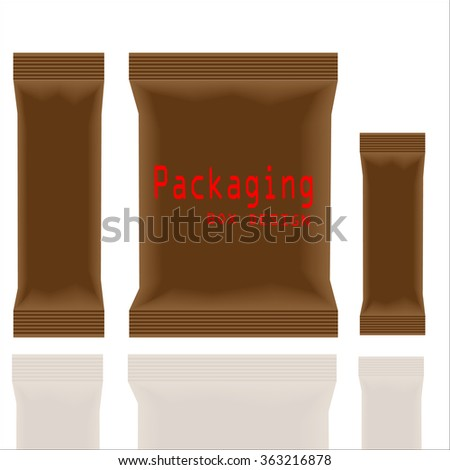 Packaging Box Design. Vector Illustration EPS 10 - stock vector