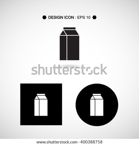 Packaging Container for Milk icon set great for any use. Vector EPS10.